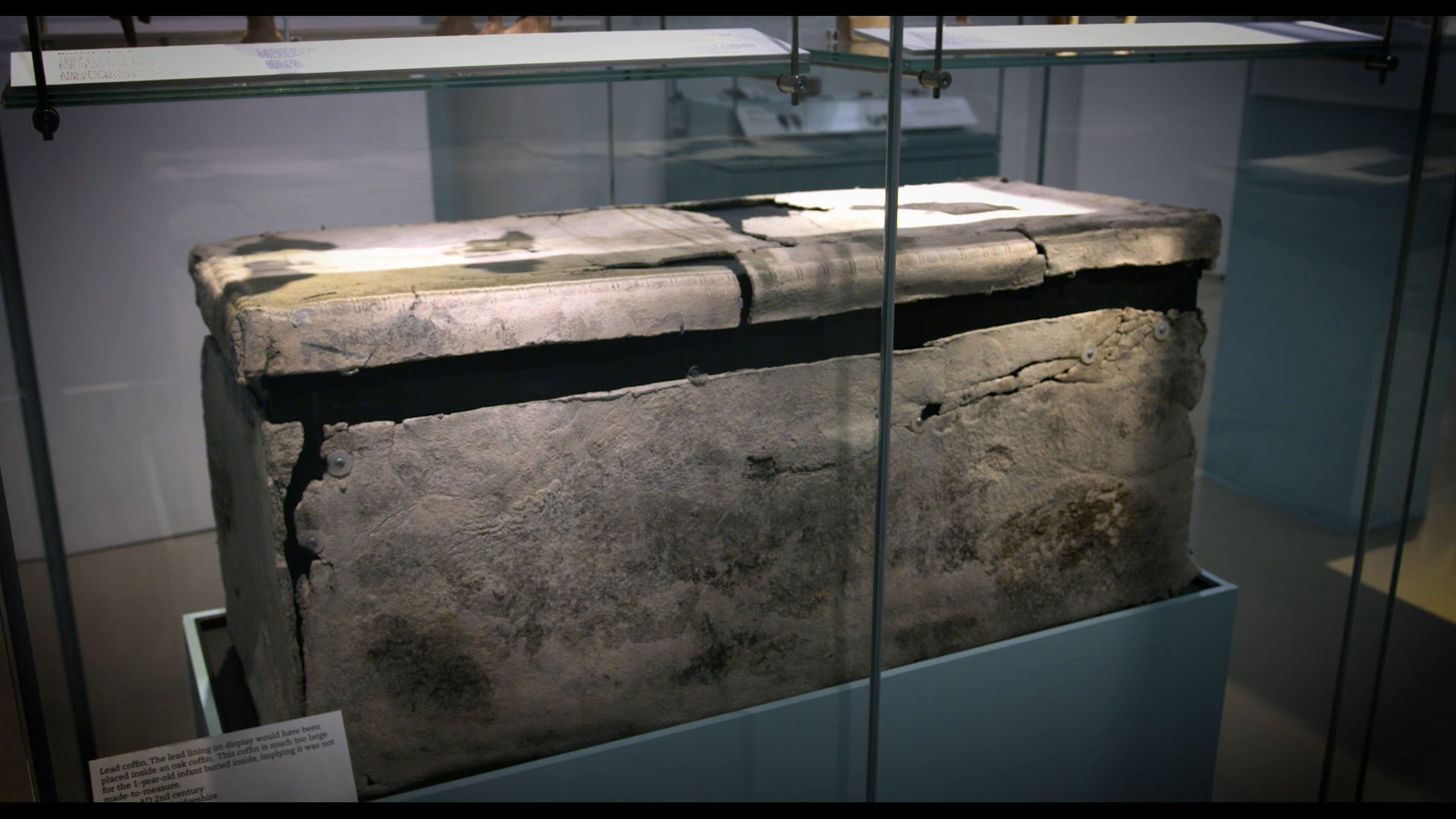 A small lead coffin