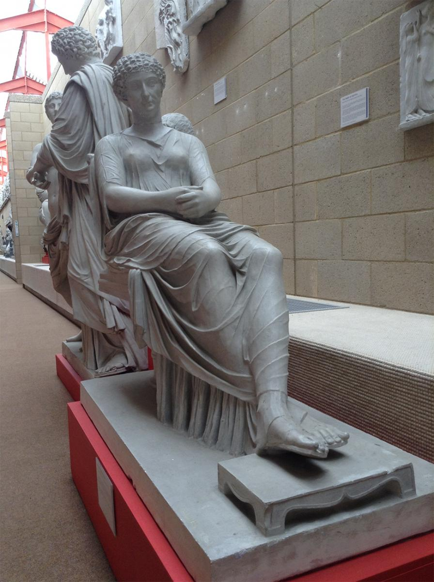 Statue of Seated Roman Woman