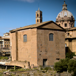 image of curia in Roman forum